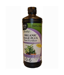 Evolve Organic Rage Plus 0-0-6 Fertilizer 1 L
