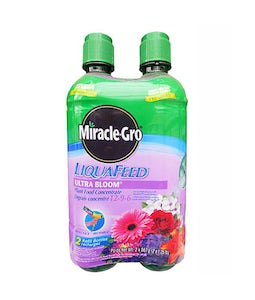 Miracle Gro Liqua Feed Ultra Bloom Plant Food 12-9-6 Refill Bottles 2X567 G