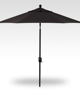 TREASURE GARDEN 9 FT PUSH BUTTON UMBRELLA IN BLACK WITH A BLACK STEM