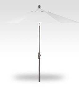 TREASURE GARDEN 9 FT COLLAR TILT UMBRELLA IN EGGSHELL WITH A BLACK STEM