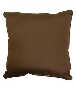 Sunbrella 16 X 16 Outdoor Cushion In Canvas Bay Brown