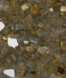 AMERICAN FIREGLASS 1/4 INCH GOLD REFLECTIVE FIRE GLASS 10 LBS