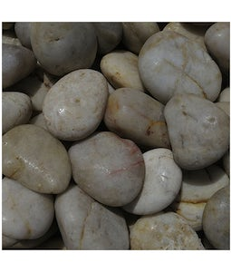 Polished River Rock Whte Finish 20 Kg