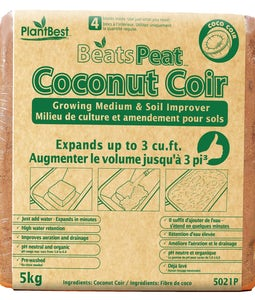 Plantbest Beats Peat 100% All Natural Premium Coconut Coir 5 Kg