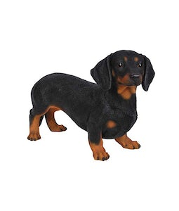 Border Concepts Standing Black Dachshund 13In