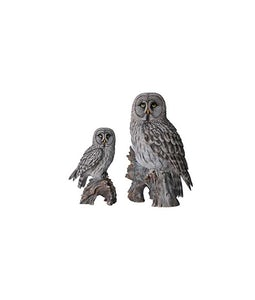 Border Concepts Small Great Grey Owl 14.25In