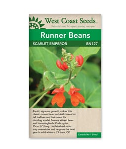 West Coast Seeds Scarlet Emperor Runner Bean