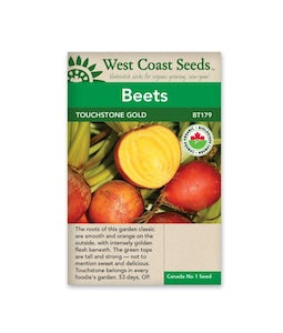 West Coast Seeds Touchstone Gold Beets Organic Certified