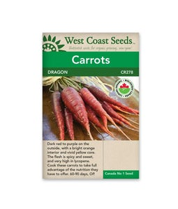 West Coast Seeds Carrots Dragons Organic Certified