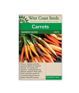West Coast Seeds Carrots Rainbow Blend