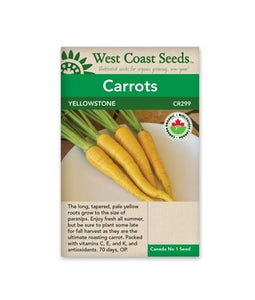 West Coast Seeds Carrots Yellowstone Organic Certified
