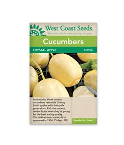 West Coast Seeds Cucumbers Crystal Apple