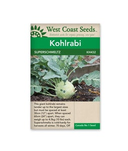 West Coast Seeds Kohlrabi Superschmeltz