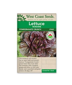 West Coast Seeds Lettuce Pomegranate Crunch Pelleted