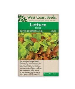 West Coast Seeds Lettuce Super Gourmet Salad
