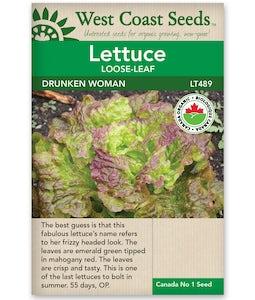 West Coast Seeds Lettuce Drunken Woman