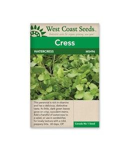 West Coast Seeds Cress Wrinkled Crinkled Curly