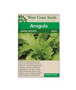 West Coast Seeds Arugula Adagio