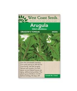 West Coast Seeds Arugula Dragons Tongue