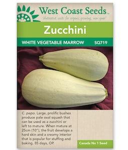 West Coast Seeds Squash White Vegetable Marrow
