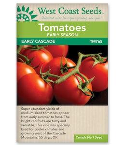 West Coast Seeds Tomatoes Early Cascade
