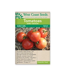 West Coast Seeds Tomatoes Early Girl F1