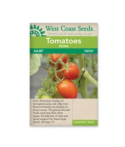 West Coast Seeds Tomatoes Juliet Roma F1