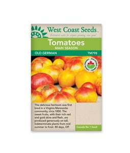 West Coast Seeds Tomatoes Old German Organic Certified