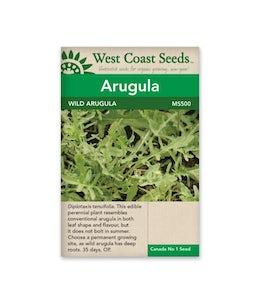 West Coast Seeds Arugula Wild Sylvetta