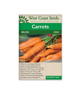 West Coast Seeds Carrot Nelson