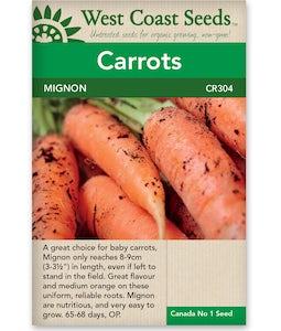 West Coast Seeds Carrot Mignon