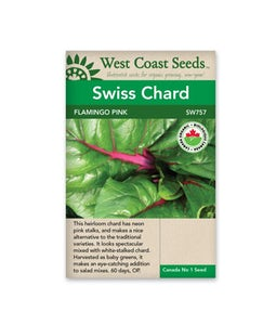 West Coast Seeds Swiss Chard Flamingo Pink Organic
