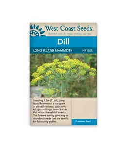 West Coast Seeds Dill Long Island Mammoth