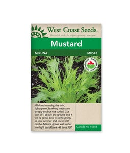 West Coast Seeds Mizuna Mustard
