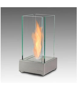 Eco Feu Cartier Stainless Table Top Fireplace
