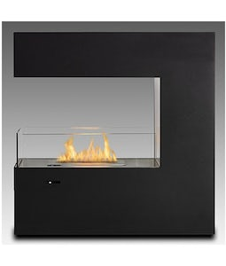 Eco Feu Paramount Matte Black Freestanding Or Built In Fireplace