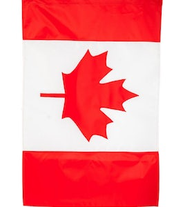 CANADIAN MAPLE LEAF FLAG, GARDEN SIZE
