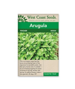 WEST COAST SEEDS ARUGULA WASABI