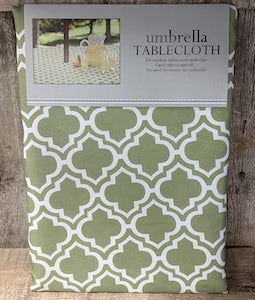 "LATTICE UMBRELLA TABLE CLOTH 60""X 84"""