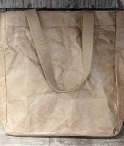BROWN TYVEK PAPER REUSABLE TOTE